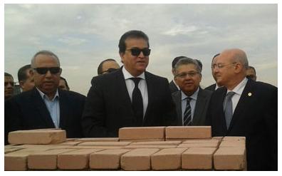 وزير التعليم العالى يضع حجر أساس فرع جامعة الزقازيق بالعاشر