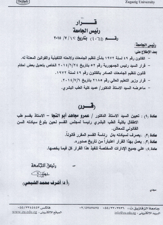 Amr Abul-Naga chairman of the children