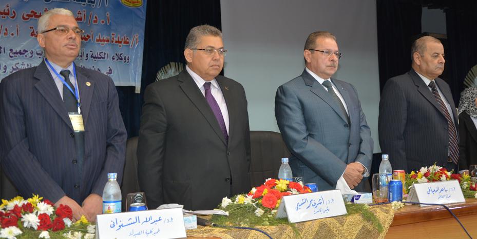 Celebration of the Faculty of Pharmacy, Zagazig University _ obtaining accreditation first accredited college university 02/09/2014