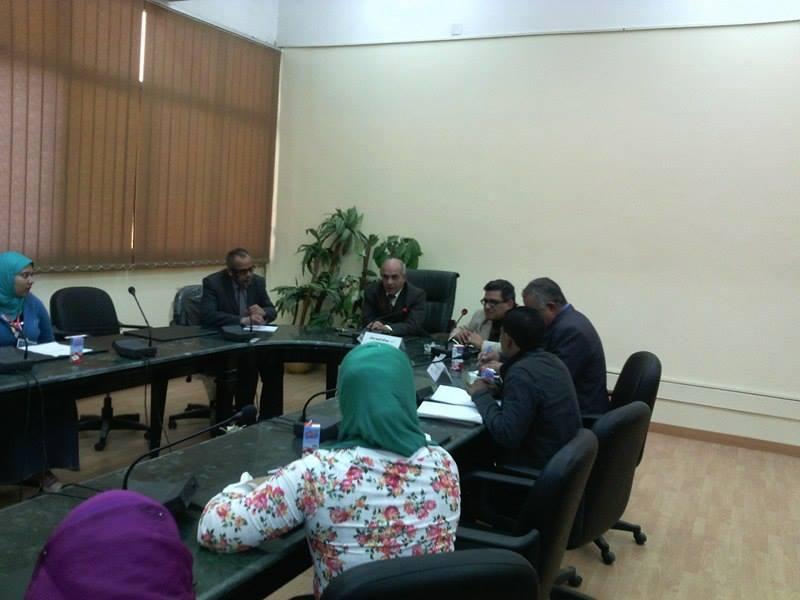 اجتماع الاستاذ الدكتور/عبدالله عسكر عميد الكلية مع مجلس اتحاد طلاب كلية الاداب