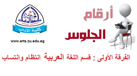 ارقام جلوس الفرقة الاولى قسم اللغة العربية
