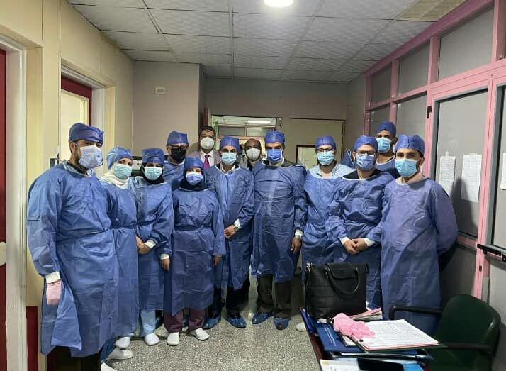 University President visits the recent liver transplant pair to ensure that they are doing well