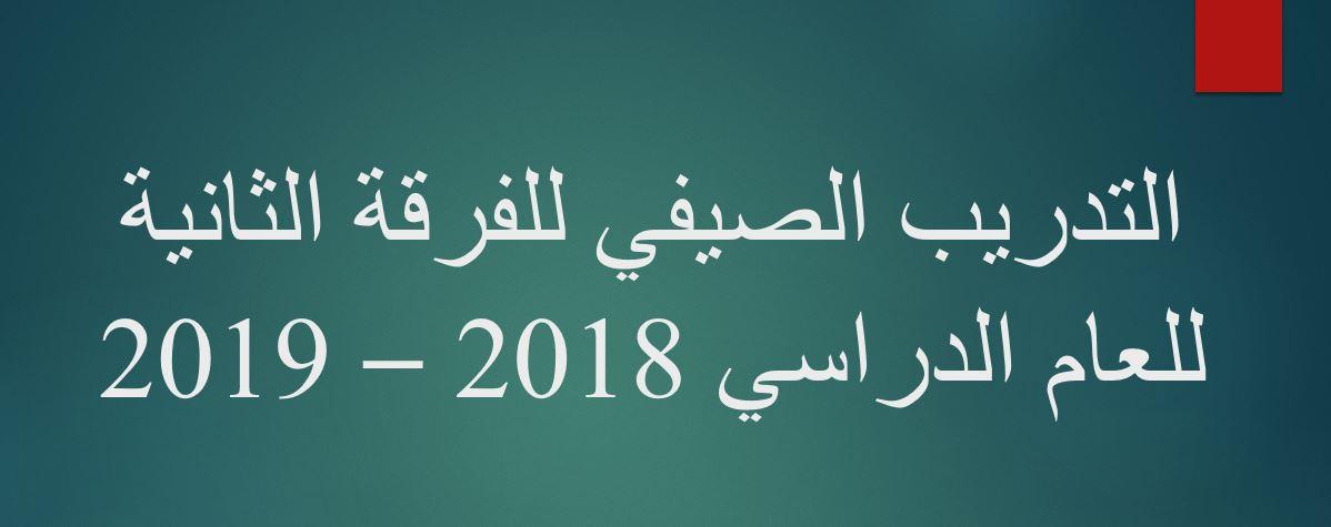 التدريب الصيفي لطلبة الفرقة الثانية للعام الدراسي 2018 - 2019