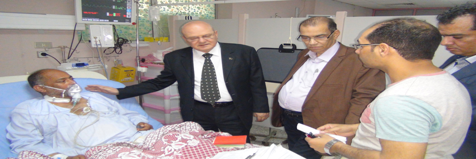 Dr.. Khaled Abdul Bari president of Zagazig University: the return of medical service Bmstesfa Batinah naturally limited following the blaze, which was brought under control within ten minutes